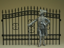Wrought Iron Fence, 2 pieces
