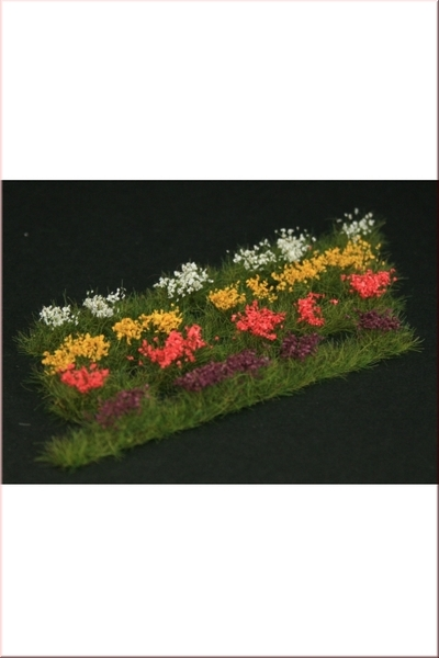 Strips of wild flowers, 6pcs, 4 different colours