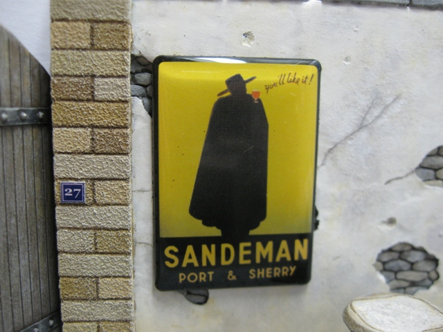 "Real Enamel Advertising Sign - ""Sandeman"""