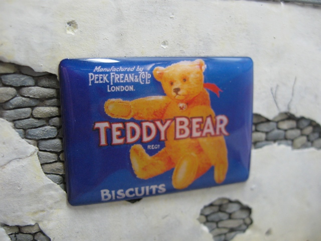 "Real Enamel Advertising Sign - ""Teddy Bear"""