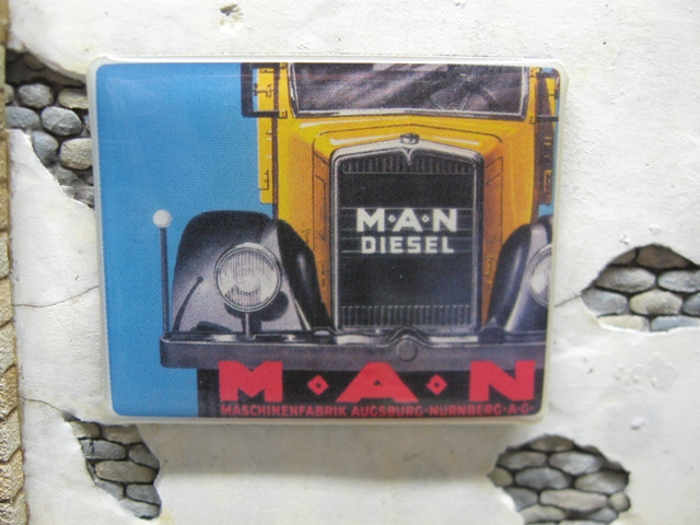"Real Enamel Advertising Sign - ""MAN"""