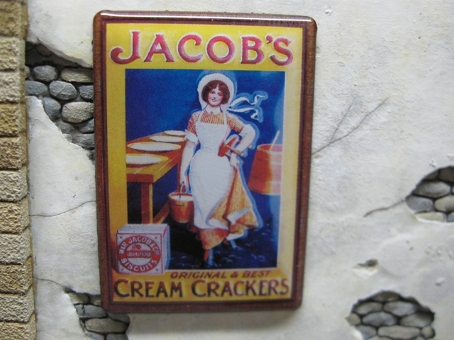 "Real Enamel Advertising Sign - ""Jacob's"""