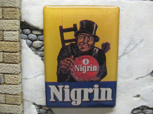 "Real Enamel Advertising Sign - ""Nigrin"""
