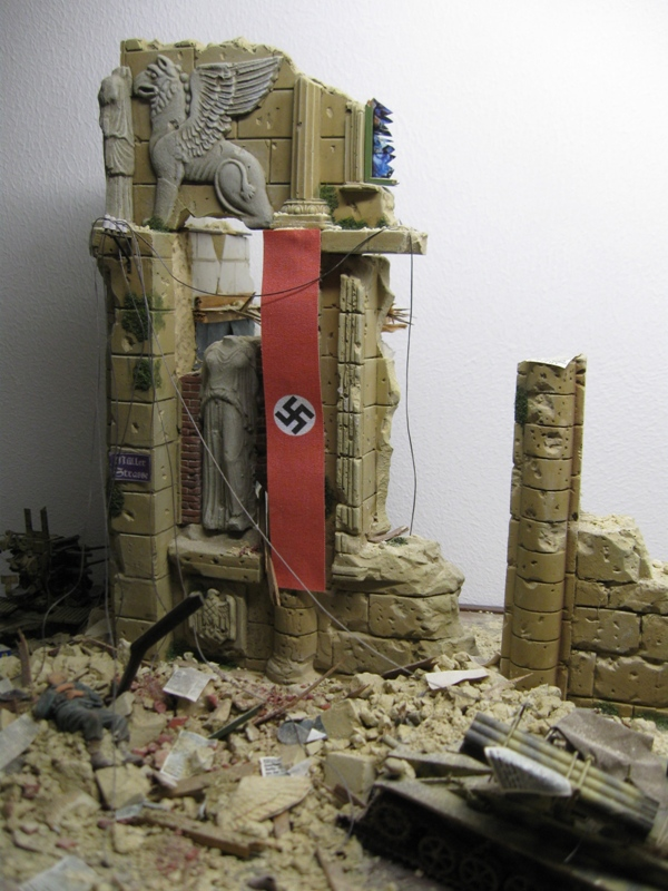 german war banners for buildings wwii on real cotton reality in scale