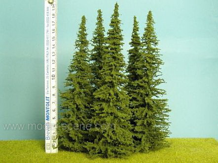 Super Realistic Spruce Tree - Small (+/- 20cm) - Set of 3