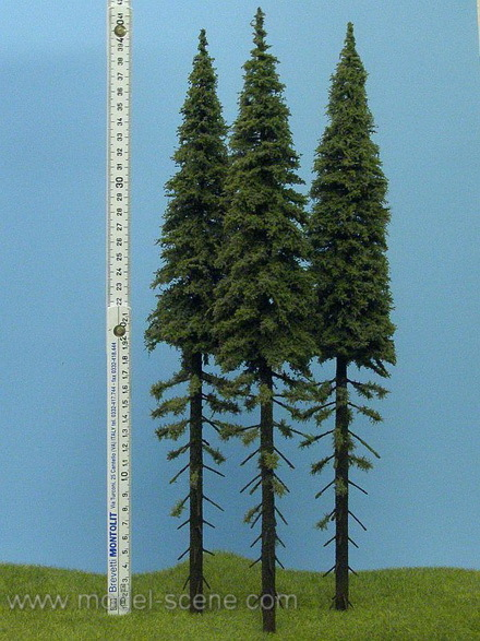 Super Realistic Spruce Tree with Trunk - Large (+/- 40cm) - 2 pieces
