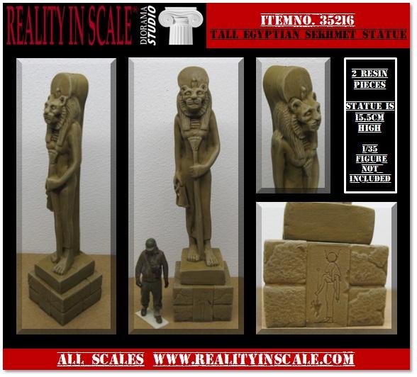 Tall Egyptian Sekhmet Statue