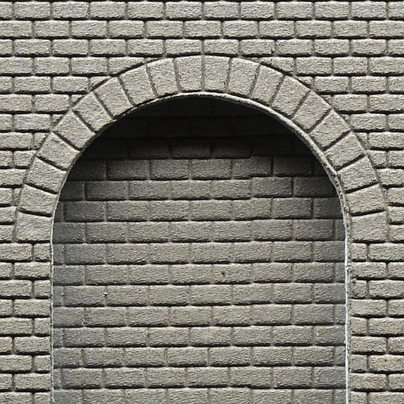 Wall Section With Arcades, Smooth Regular Cut Stone